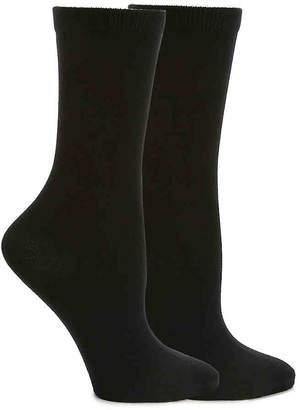 Anne Klein Bamboo Flat Knit Crew Sock - 2 Pack - Women's