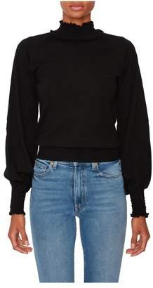 Nina Ricci Smock Knit Turtleneck Sweater