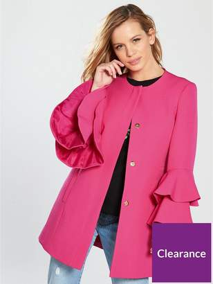 V By Very Petite Flute Sleeve Formal Coat