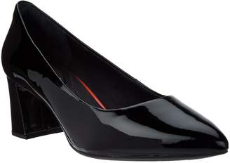 Rockport Total Motion Patent Leather Block Heel Pumps- Salima