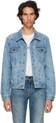 Saint Laurent Blue X-Detail Denim Jacket