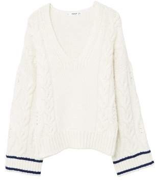 MANGO Sleeve detail swearshirt