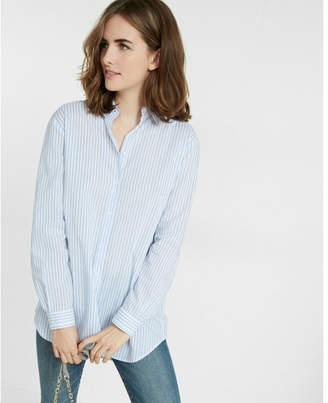 Express striped long sleeve oversized shirt $59.90 thestylecure.com