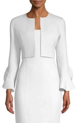 Michael Kors Ruffle Sleeve Cardigan Jacket