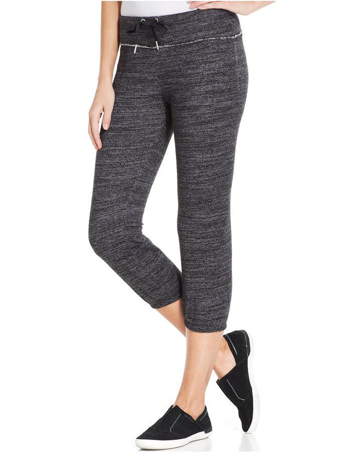 Calvin Klein Space-Dye Cropped Sweatpants