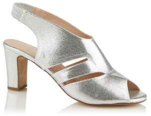 fdf6363864cc9 George Silver Faux Suede Cut Out Heels