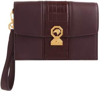 Stefano Ricci Croc Panel Leather Wrist Bag