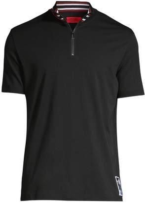 HUGO Daranto Regular-Fit Striped Collar Polo
