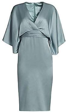 Theia Women's Kimono V-Neck Sheath Dress