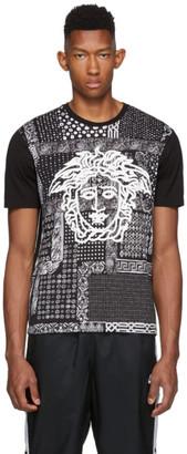 Versace Black Bandana Medusa T-Shirt