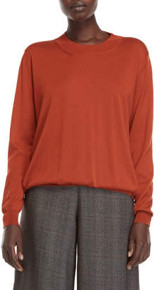 Roberto Collina Burnt Orange Wool Sweater
