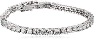 "Swarovski Amazon Collection Platinum Plated Sterling Silver Tennis Bracelet set with Round Cut Zirconia (18.72 cttw), 8"""