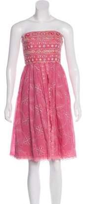 Cynthia Steffe Cynthia Straplees Knee-Length Dress