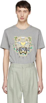 Kenzo Grey Limited Edition Dragon Tiger T-Shirt