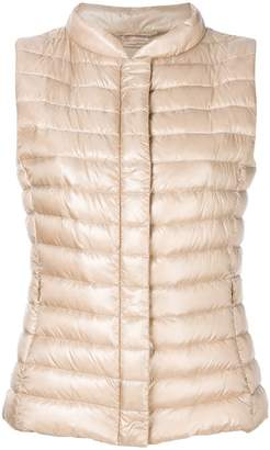 Herno cropped padded gilet