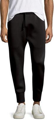 Helmut Lang Curved-Leg Track Pants $345 thestylecure.com