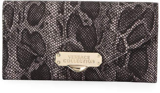 Versace Small Snake-Embossed Leather Crossbody Bag