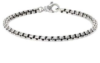 David Yurman Heritage  Silver Box Chain Bracelet