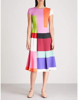 Mary Katrantzou Colour-blocked crepe dress