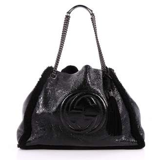 Gucci Soho patent leather handbag
