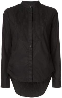 Pierre Balmain mandarin collar pleated front panel shirt