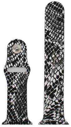 OLIVIA PRATT Olivia Pratt Compatible With Apple Watch Unisex Black Watch Band-8844snake42