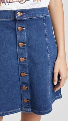 Wrangler Button Front Miniskirt