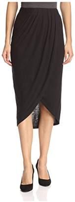 James & Erin Women's Slit Skirt
