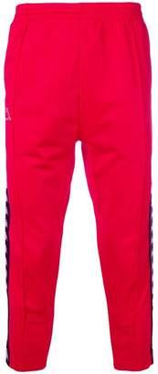 Kappa logo cropped track trousers