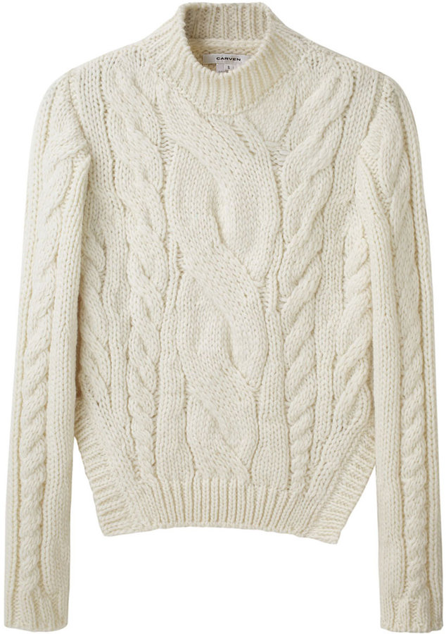 Carven / Short Cable Sweater