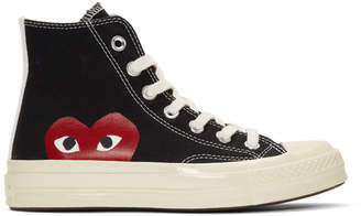 Comme des Garcons Black Converse Edition Half Heart Chuck Taylor All-Star 70 High-Top Sneakers
