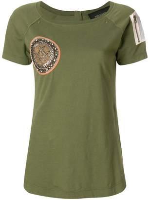 Mr & Mrs Italy zip-detailed T-shirt