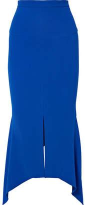 Roland Mouret Milton Asymmetric Stretch-jersey Midi Skirt - Blue