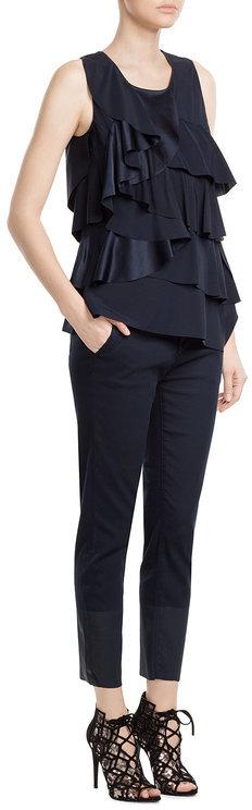 DKNYDKNY Ruffled Silk Top