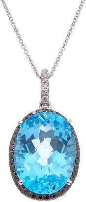 Effy Fine Jewelry 14K 19.43 Ct. Tw. Diamond & Blue Topatz Necklace
