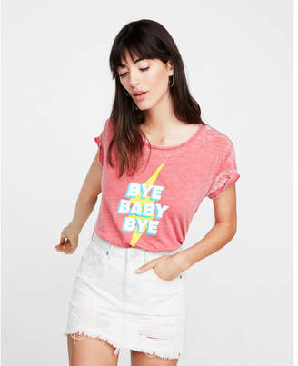 Express one eleven bye baby bye burnout boxy tee