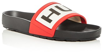 Hunter Men's Logo Pool Slide Sandals $85 thestylecure.com