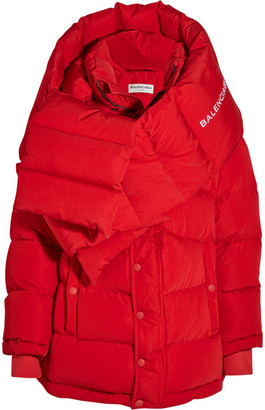 Balenciaga - Oversized Quilted Shell Jacket - Red $3,250 thestylecure.com