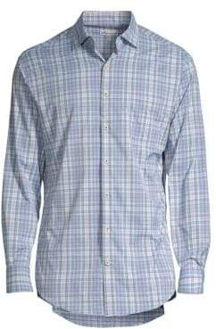 Peter Millar Wyatt Plaid-Print Shirt