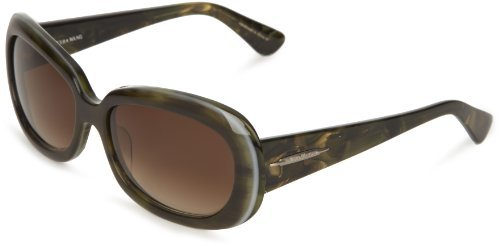 Vera Wang V260 V260 Oval Sunglasses,Forest,59 mm
