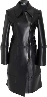 Alberta Ferretti Patchwork Leather Coat