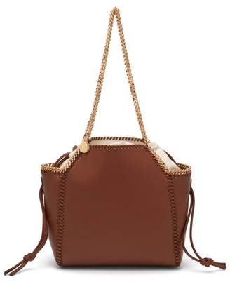 Stella McCartney Falabella Small Reversible Faux Leather Tote - Womens - Tan