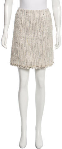 ChanelChanel Pinstripe Mini Skirt