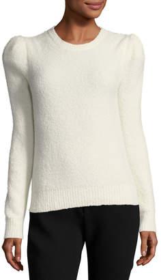 Co Cashmere-Blend Strong-Shoulder Sweater