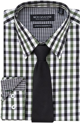 Nick Graham Men's Everywhere Modern-Fit Stretch Dress Shirt & Tie Set