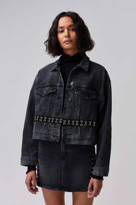 3x1 Black Corset Oversized Jacket | Carbone