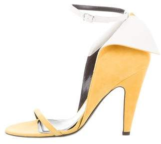 Calvin Klein Suede Fold-Over Pumps w/ Tags
