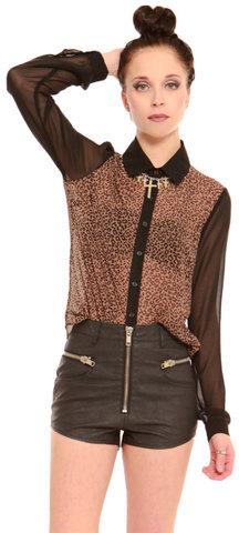 Gypsy Warrior Vanessa Leopard Blouse