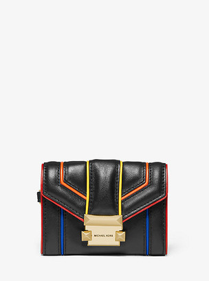 Michael Kors Whitney Small Rainbow Quilted Leather Chain Wallet