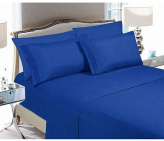 Elegant Comfort 5-Piece Luxury Soft Solid Bed Sheet Set Split King Bedding